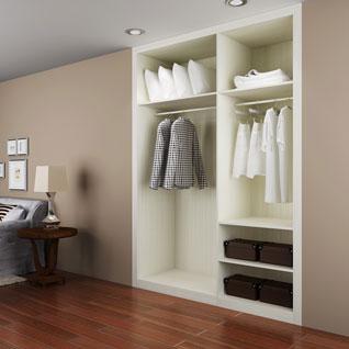 FIBE51 : Modern Wood Grain Melamine Wardrobe
