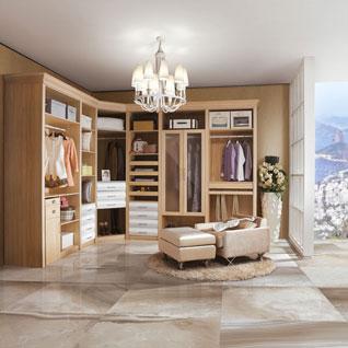 FIBE53 : Modern Wood Grain Melamine Walk-in Closet