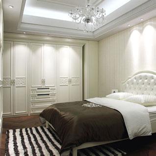 FIBE47 : Fashionable white Lacquer Hinged Wardrobe