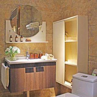 FIBA13:モダンな木目調のHPL(高圧ラミネート)製バスルーム