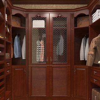 FIBE52 : Gorgeous Cherry Wood Walk-in Closet