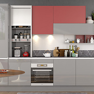 FIK69:360cm Width Standard Kitchen Cabinet with Lacquer Finish