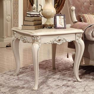 FILD37:木彫りのフレンチスタイルエンドテーブル