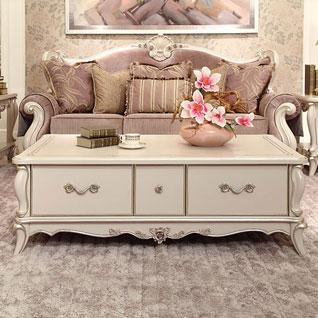 FILD38:木彫りのフレンチガーリースタイルティーテーブル