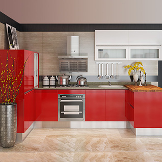 FIK76 : Batimatec 2015 Lacquer and Acrylic Kitchen Cabinet