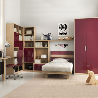 FIBE60 : Dreamy and Fashionable Bedroom in Pink for Teenage Girl