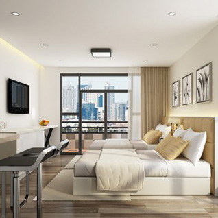 FIW14 : Modern Compact Well-Equipped Hotel Apartment