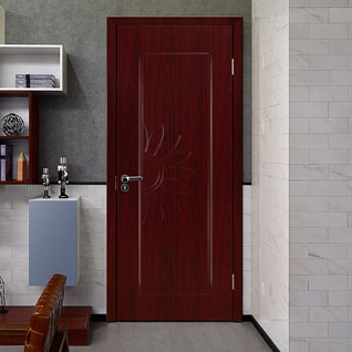 FII63 : High Quality PVC Single Door with Flower Design