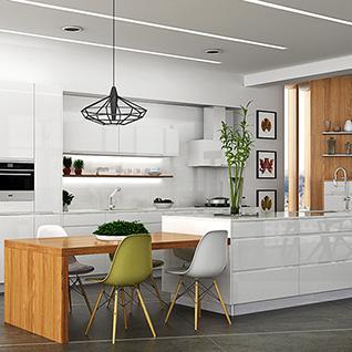 FIK79 : Modern Elegant Lacquer Kitchen Cabinet