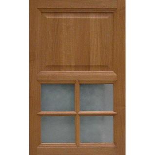 Wood framed glass door