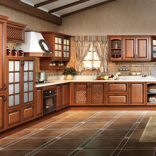 FIK97 : Traditional Customized Thermofoil Kitchen Cabinet