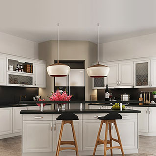FIK100 : Simple European Style of White Kitchen Cabinet