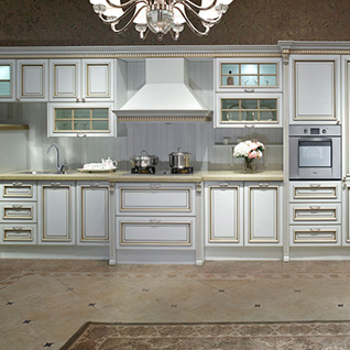 FIK108 : Traditional Thermofoil Kitchen Cabinet
